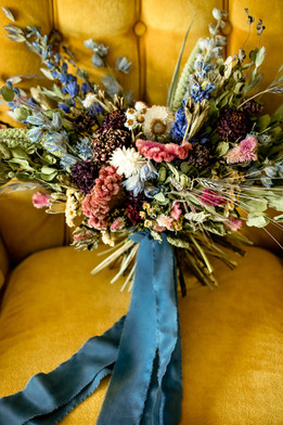 Jewel Tone Bridal Bouquet // Dried Flower Bridal Bouquet