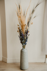 Delphinium and Larkspur Dried Flower Floor Arrangement