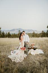 Blue Mountain Montana Terracotta Elopement // Salmon Pink Bridal Bouquet