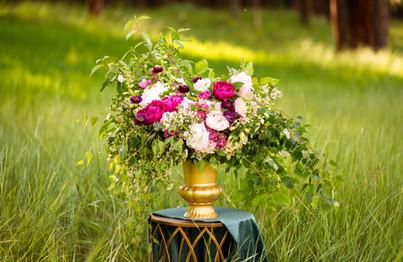 Lush Wedding Ceremony Floral Arrangement