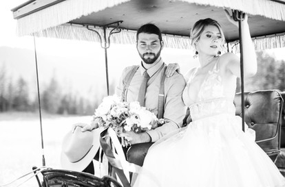 Montana Ranch Wedding Carriage Ride