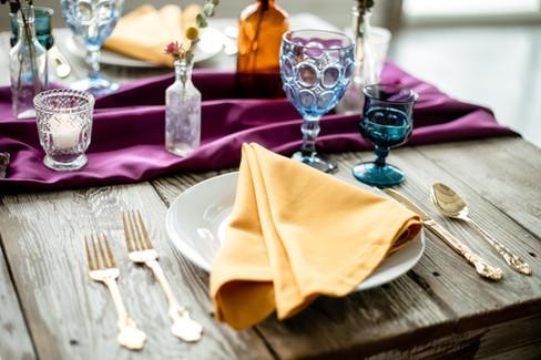 Jewel Tone Wedding Place Setting