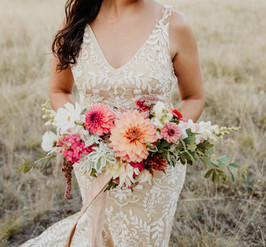 Coral, Salmon and Peach Bridal Bouquet