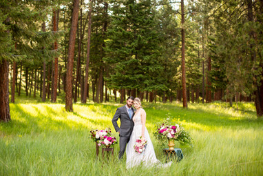 Peony and Ranunculus Wedding Ceremony Site