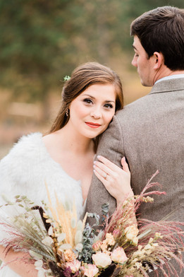 Dried Flower, Feather and Fur Intimate Montana Wedding
