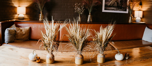 Fall Dried Floral Table Arrangement