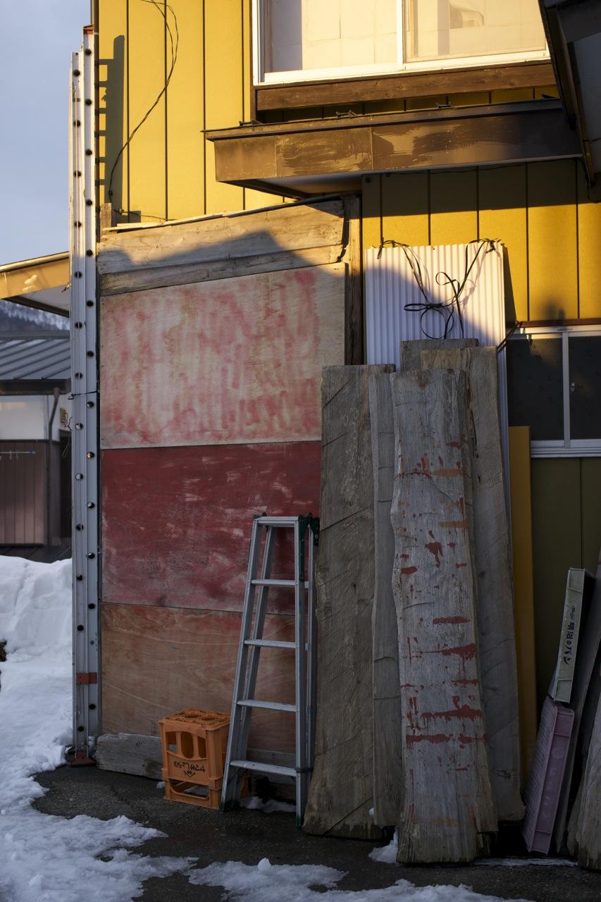Nozawa Onsen, ladders, 2014