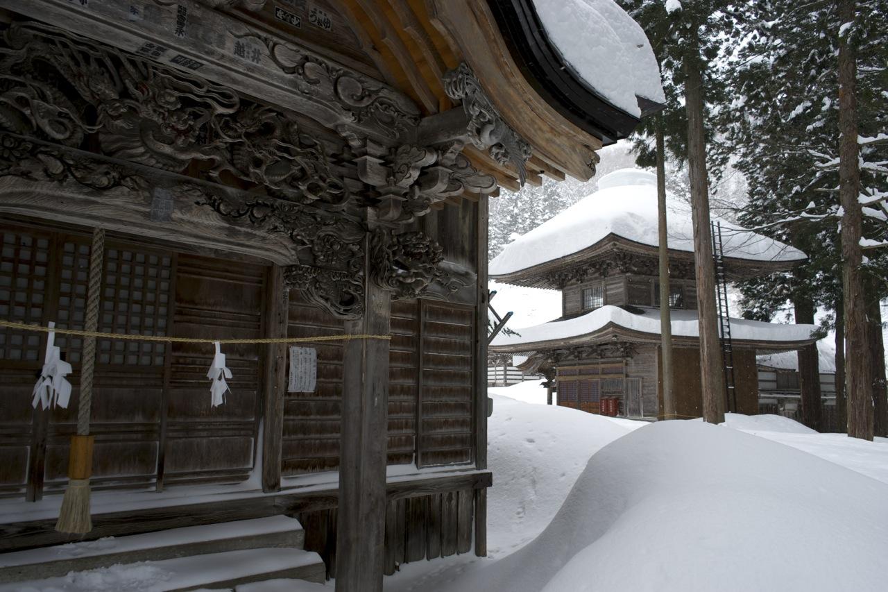 Nozawa Onsen, temples, 2014
