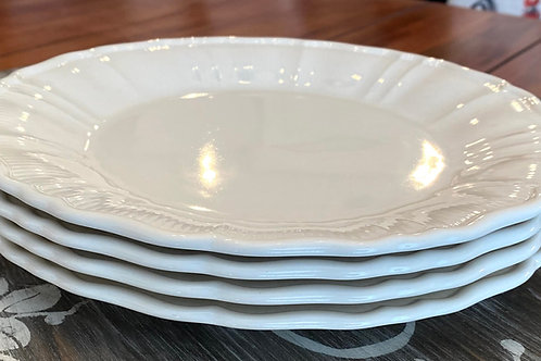 Antique White Dinner Plate Set/4