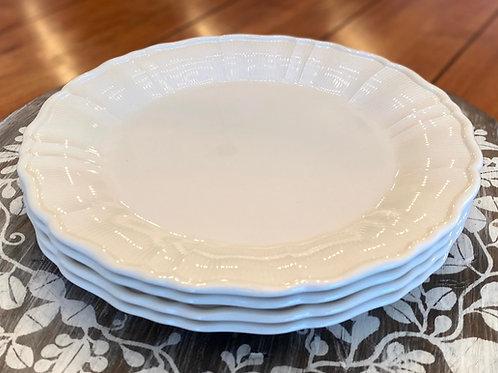 Antique White Salad Plate S/4