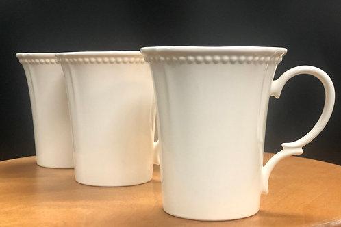 Pinpoint White Mug 14oz Set/4