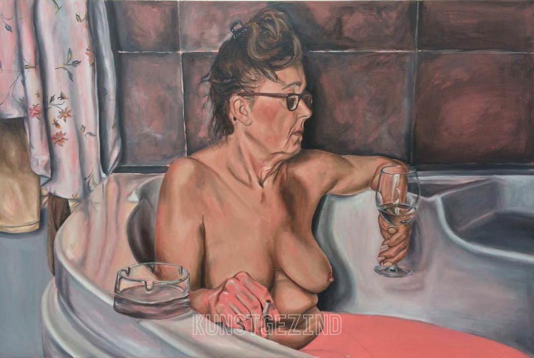 Bathing mother