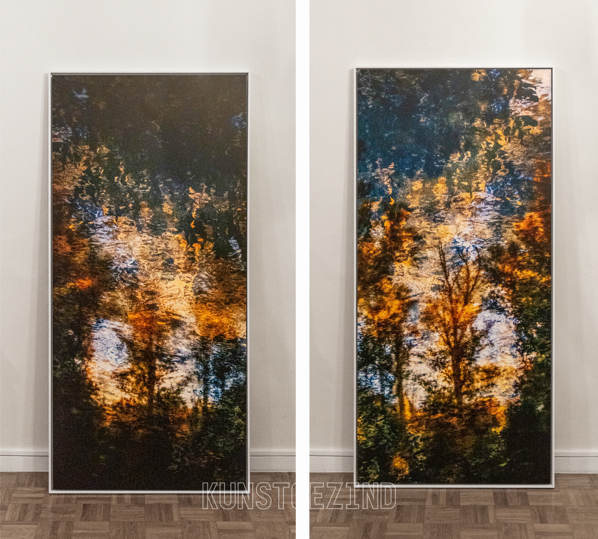 Variations on a treescape, a diptych
