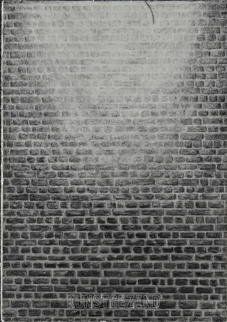 Belichte muur met los element