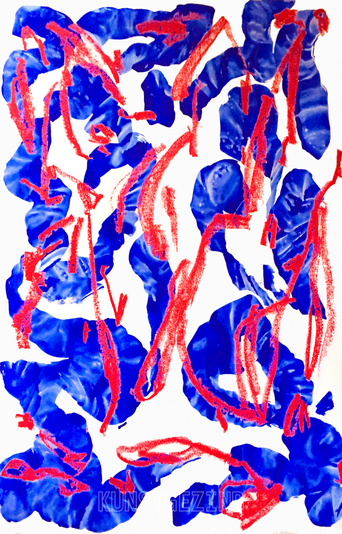 COMPOSITION RED & BLUE