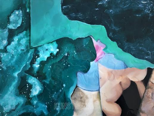 Mon corps couvert par des couches d'océan