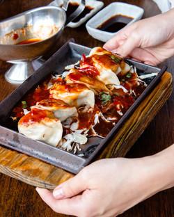 Sizzling dumplings in mapo sauce (mill park)