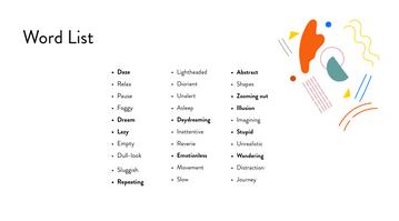 Daze Word List