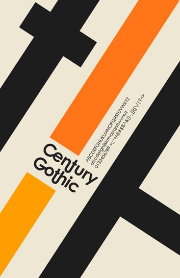 Century Gothic Poster