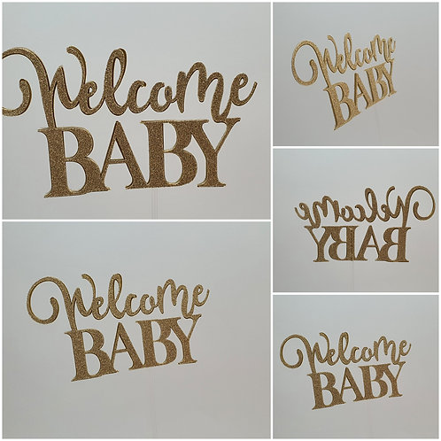 """Æ Baby Cake Topper """"Welcome BABY"""""""