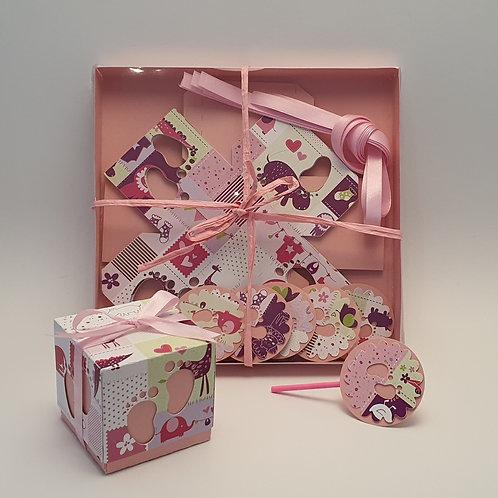 Æ  Schachteln gestanzte,   Mod. Babyfüsse - Set