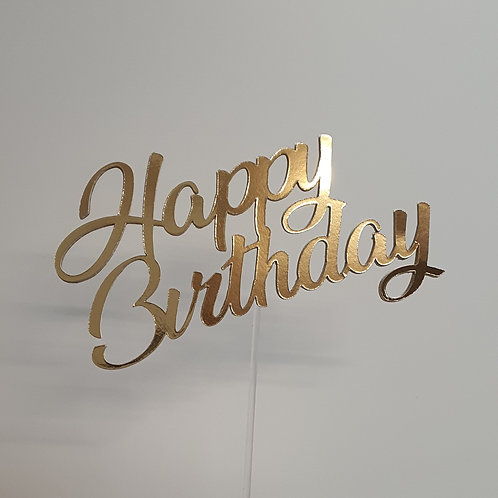"Æ Cake Toppers Designs, ""Happy Birthday"""