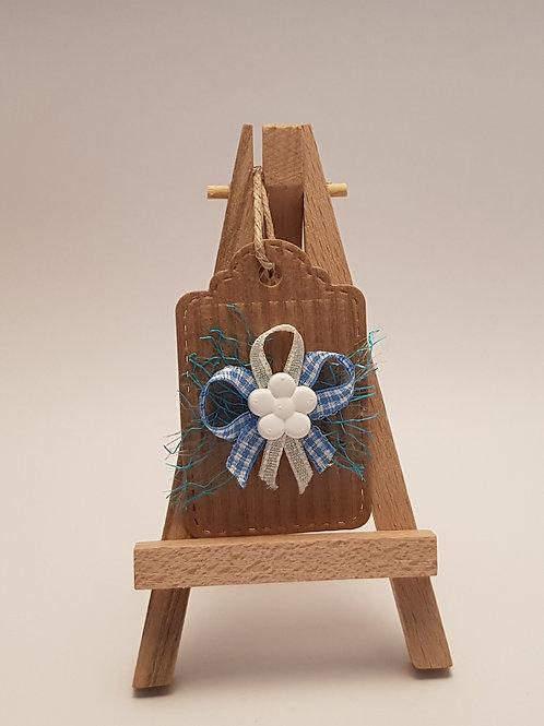 Æ Deko - Geschenkanhänger mit Keramikfigur, Blume 2