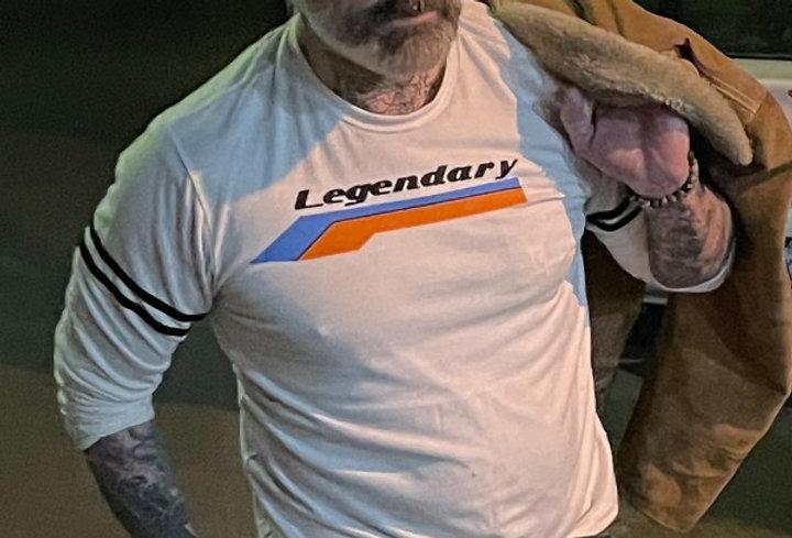Legendary 80's vintage inspired statement on long sleeve strap sweatshirt