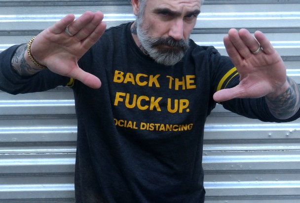 Back The Fuck Up Social Distancing Statement of French Terry Sweatshirt