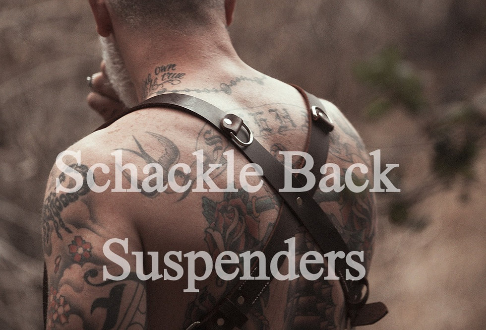 Leather Shackle Back Suspenders by Sheehan