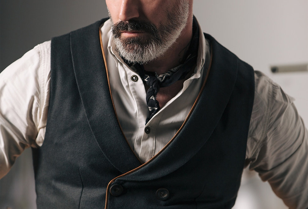 Double Breasted Shawl Collar WaistCoat Made to Measure