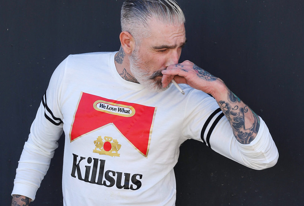LS We Love What KillsUs Statement Tee by Sheehan