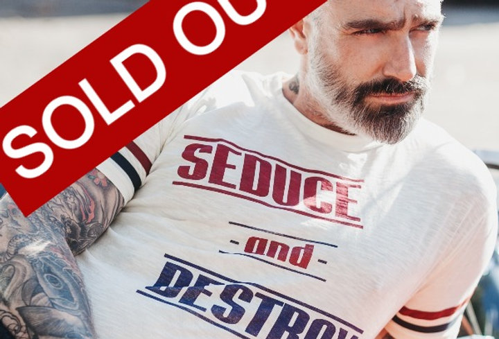 Seduce and Destroy Statement on Strap Tee by Sheehan