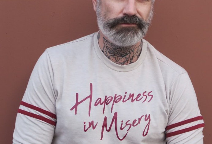Happiness In Misery Statement on French Terry Sweatshirt