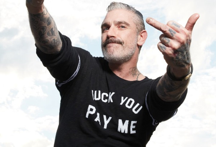 F*ck You Pay Me Statement on French Terry Strapped Sweatshirt