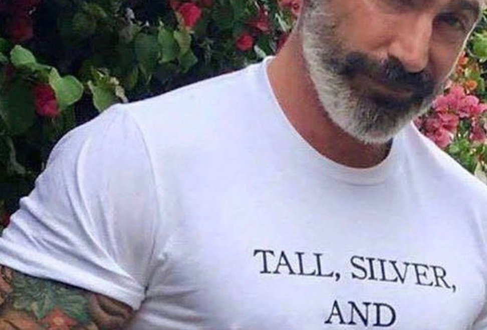 Tall, Silver, and Handsome Statement Tee by Sheehan