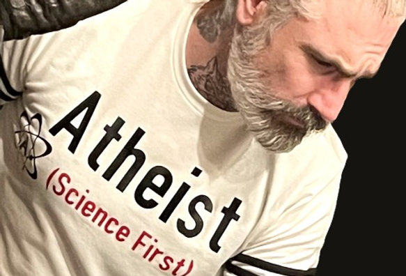 Atheist Science First Statement of French Terry Sweatshirt