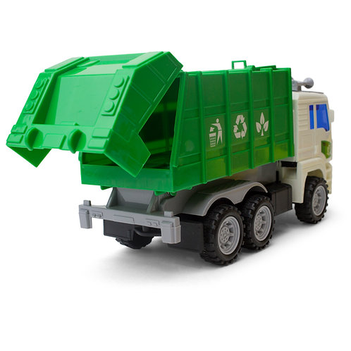 Friction Powered Garbage Dump Truck Toy For Toddler Boys And Girls