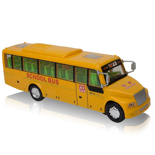 Yellow School Bus Bump and Go - Kids Toy Action - Lights and Sound