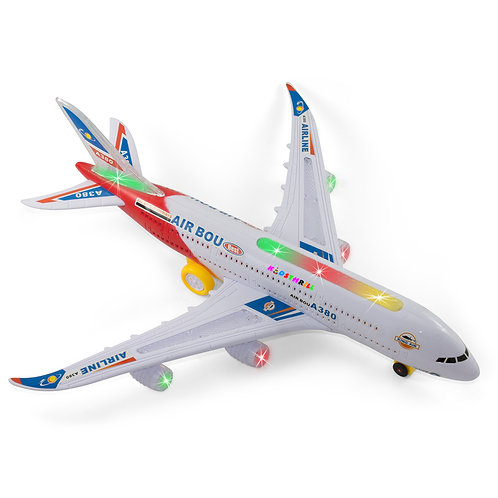 Bump And Go Electric Air Bou A380 Kids Action Airplane