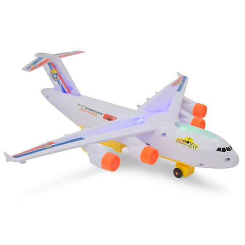 Bump And Go C17 Transport Airplane With Lights And Sounds
