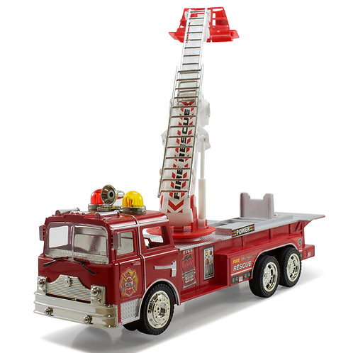 Bump And Go Electric Rescue Fire Engine Ladder Truck