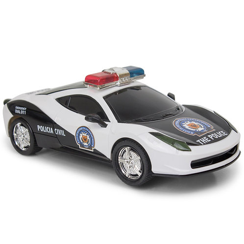 Bump And Go Police Car - With Lights And Sirens - Changes Direction On Contact