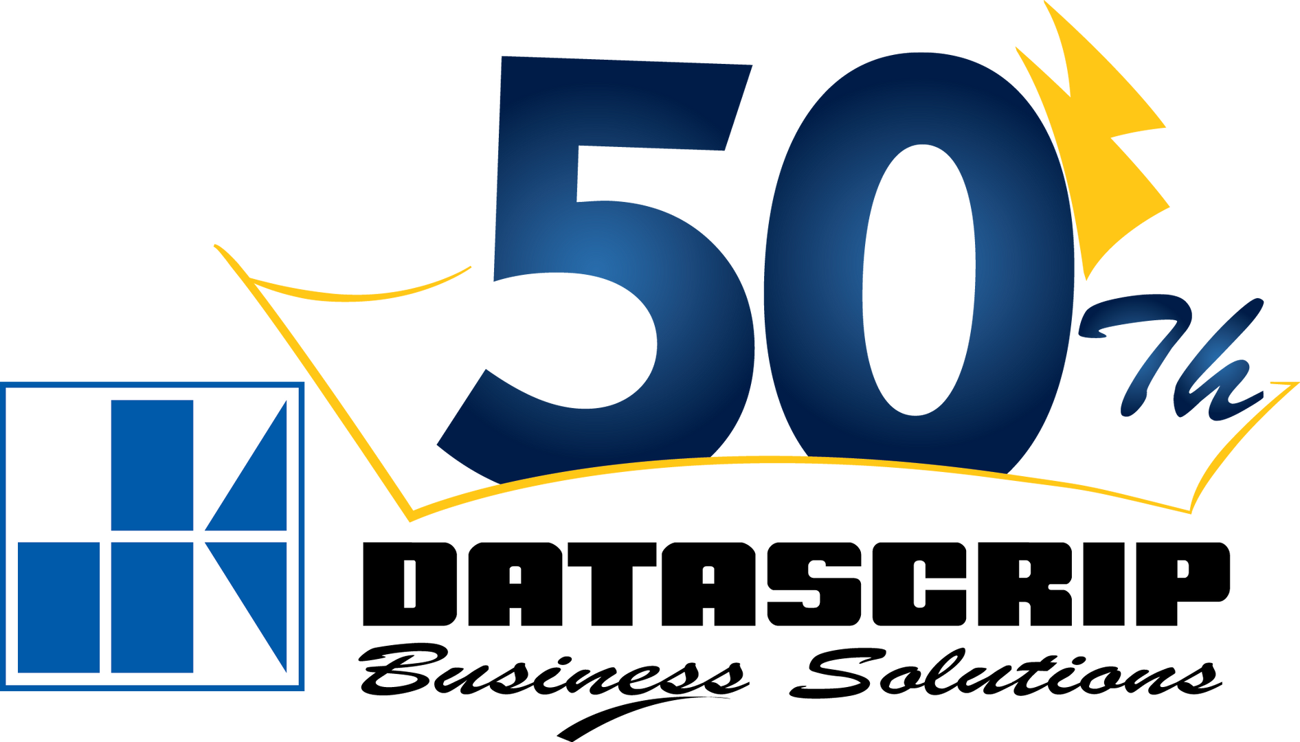 Logo 50th Datascrip -Vertical - Bayu Set