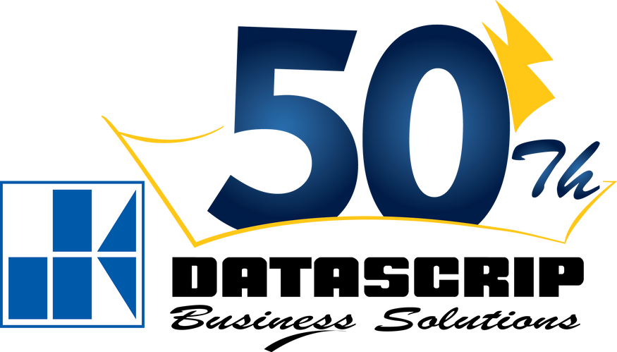Logo 50th Datascrip -Vertical - Bayu Set