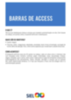 Barras de Access - Siel