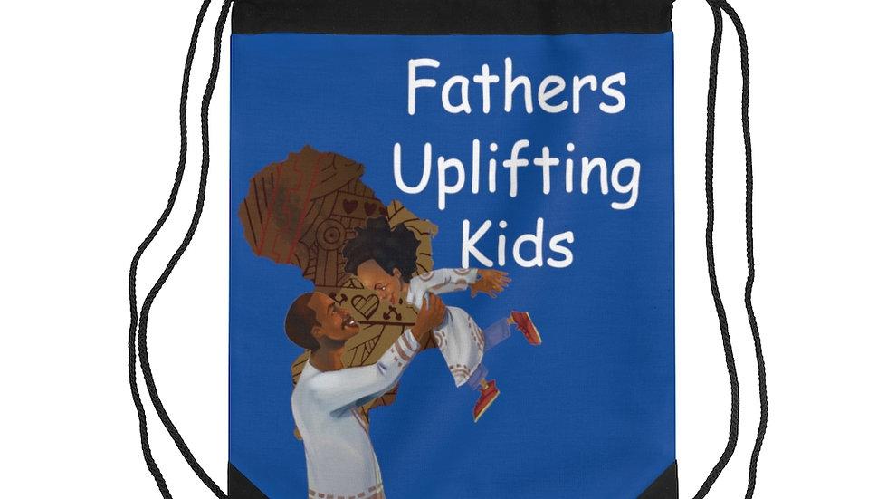 Fathers uplifting Kids Drawstring Bag
