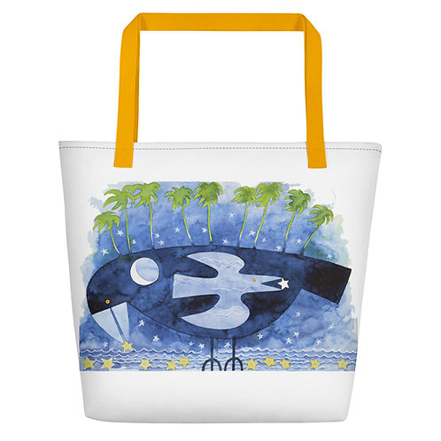 Night of the Starry Fish Beach Bag