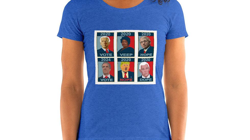 Vote 2020 Design by Jan Clark Ladies' short sleeve t-shirt