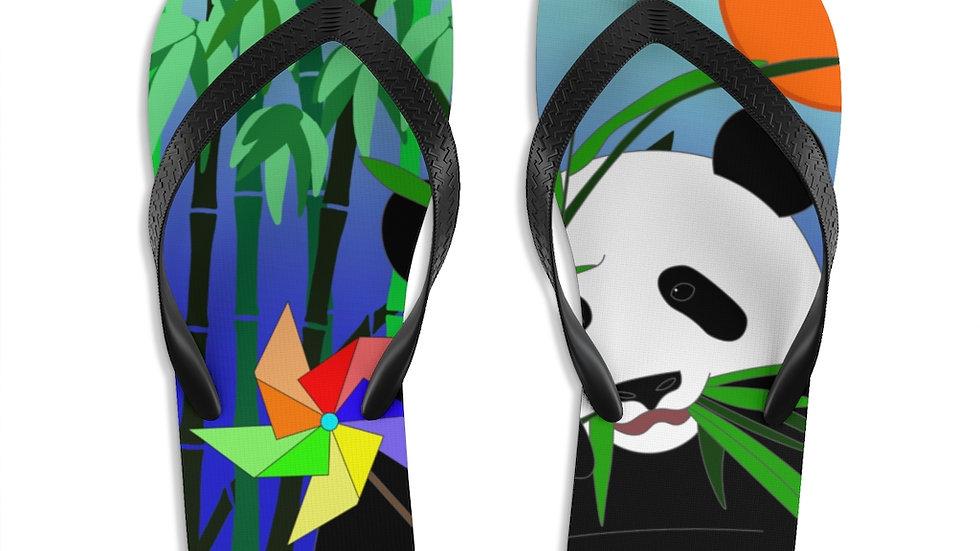 Panda Unisex Flip-Flops